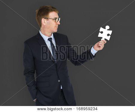 Corporate Businessman Formal Attire Portrait Concept