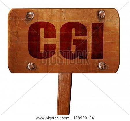 cgi, 3D rendering, text on wooden sign
