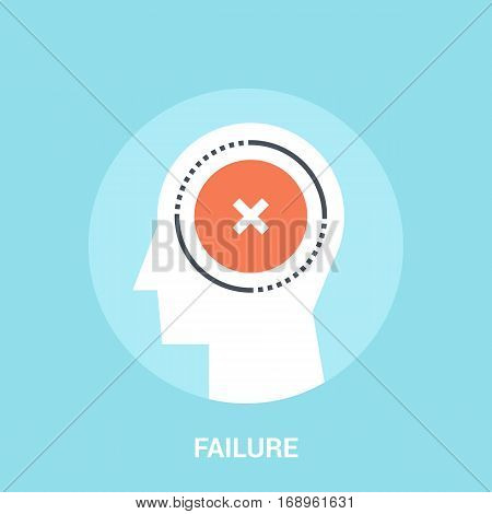 Abstract vector illustration of failure icon concept