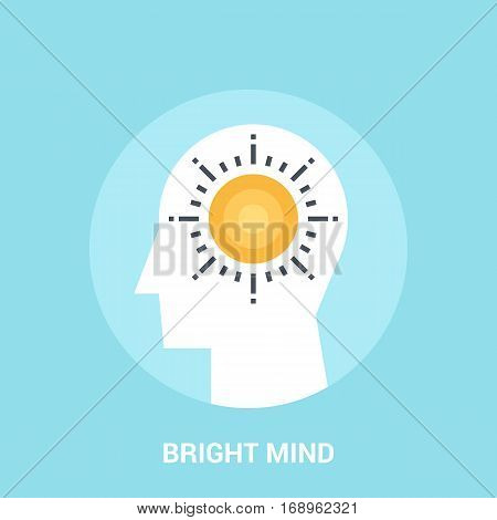 Abstract vector illustration of bright mind icon concept