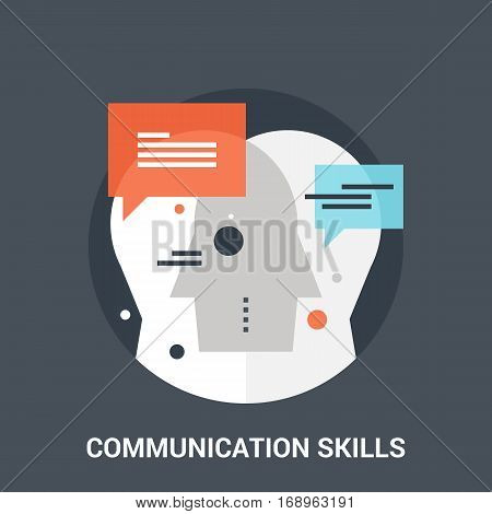 Abstract vector illustration of communication skills icon concept