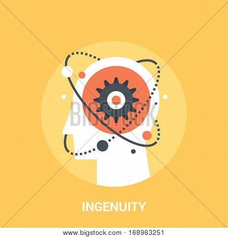 Abstract vector illustration of ingenuity icon concept