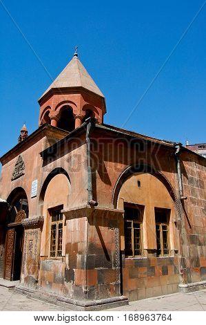 nice monastery in the city of yeveran in armenia