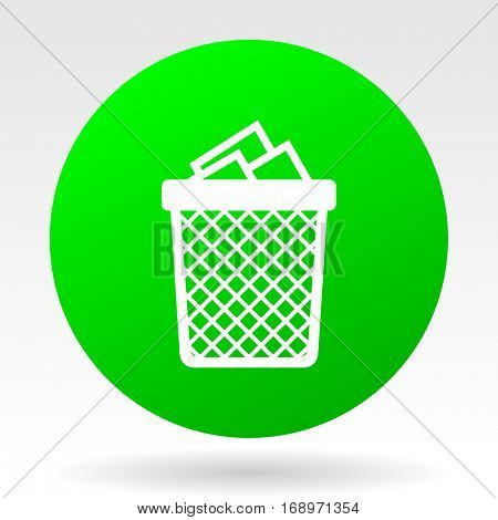 Trash can vector icon.