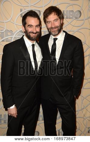 LOS ANGELES - JAN 8:  Jay Duplass, Mark Duplass at the HBO Golden Globes After-Party at Circa 55 at Beverly Hilton Hotel on January 8, 2017 in Beverly Hills, CA