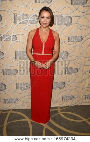 LOS ANGELES - JAN 8:  Alyssa Milano at the HBO Golden Globes After-Party at Circa 55 at Beverly Hilton Hotel on January 8, 2017 in Beverly Hills, CA