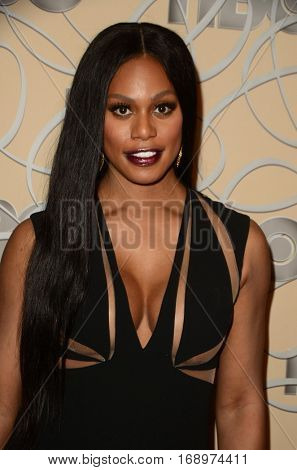 LOS ANGELES - JAN 8:  Laverne Cox at the HBO Golden Globes After-Party at Circa 55 at Beverly Hilton Hotel on January 8, 2017 in Beverly Hills, CA