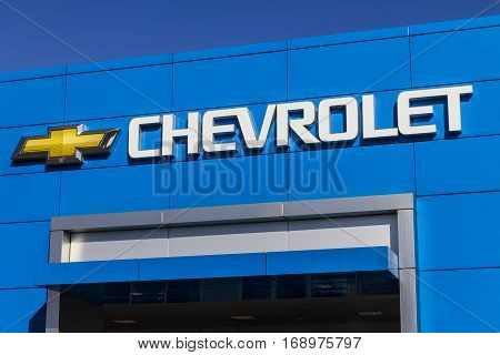 Indianapolis - Circa February 2017: Chevrolet Automobile Dealership. Chevrolet is a Division of General Motors II