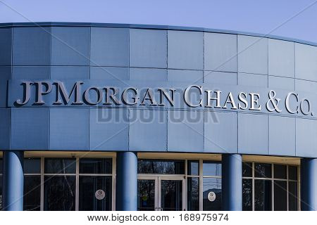 Indianapolis - Circa February 2017: JPMorgan Chase Operations Center. JPMorgan Chase and Co. is the largest bank in the United States II
