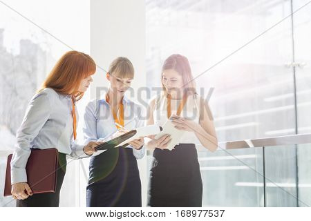 Business women in office