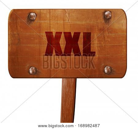 xxl sign background, 3D rendering, text on wooden sign