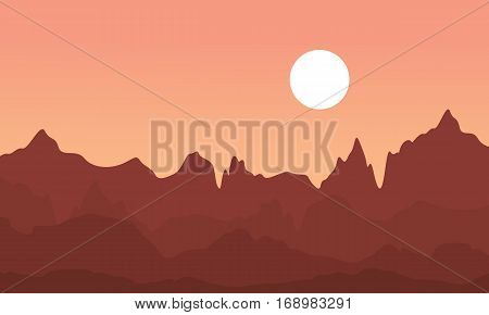 Landscape of cliff collection stock vector art