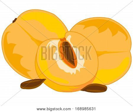 Fresh fruits discharges on white background is insulated