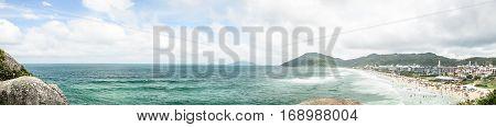 Panoramic View Of Praia Brava Beach In Florianopolis, Brazil