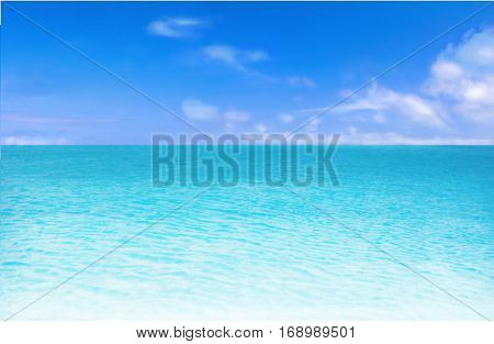 Beach and blue sky background.