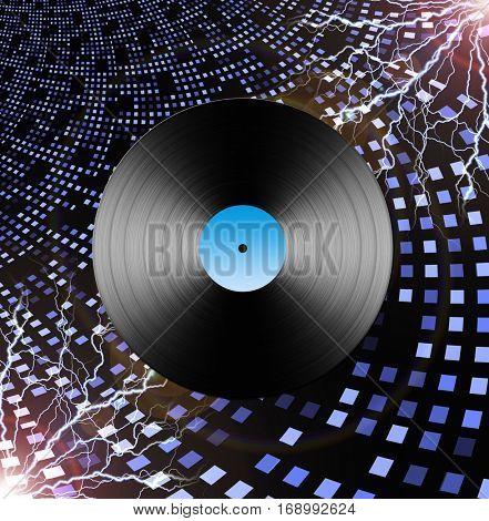 Electric LP  3D Render