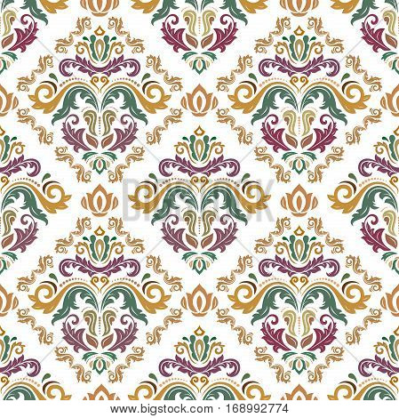 Seamless classic vector colored pattern. Traditional orient ornament. Classic vintage background