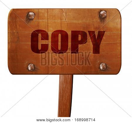 copy sign background, 3D rendering, text on wooden sign