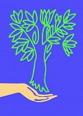 hand keeps tree poster