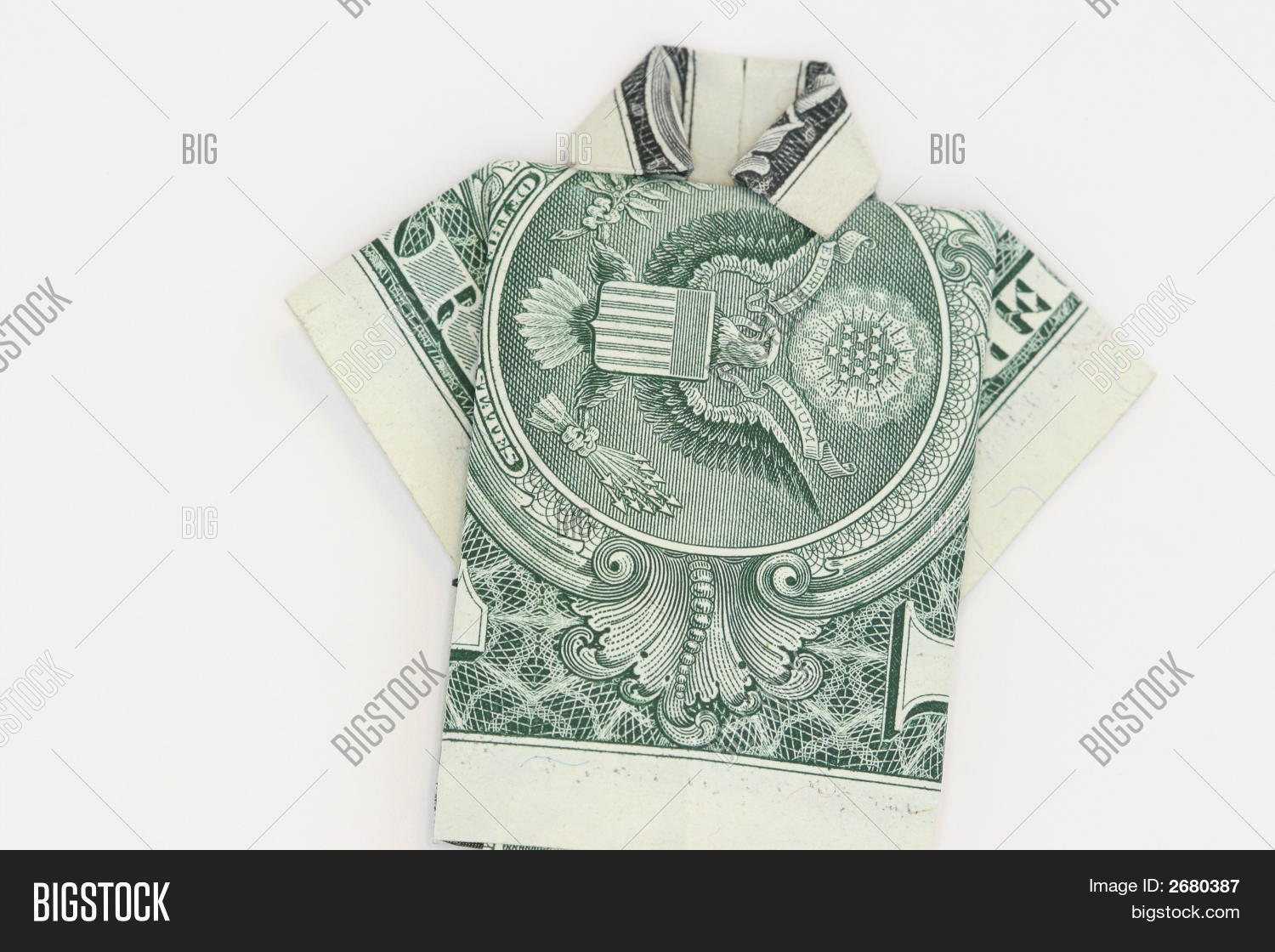 Money Origami SHIRT Image & Photo (Free Trial) | Bigstock | 1120x1500