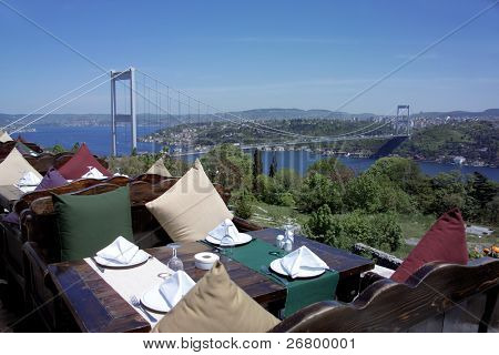 Bosphorus Bridge, marmara sea in istanbul, Turkey