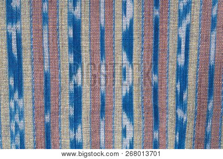 Handmade Cotton Woven Fabric As A Background And Texture