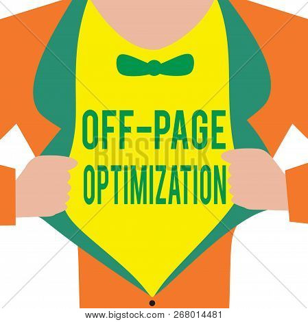 Handwriting Text Off Page Optimization. Concept Meaning Website External Process Promotional Method