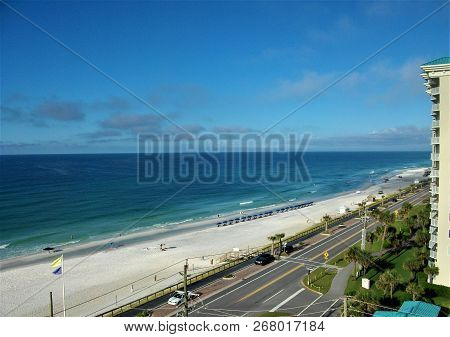 Morning On The Emerald Coast, Overlooking The Gulf Of Mexico, From A Balcony In Destin, Florida.