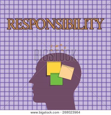 Conceptual Hand Writing Showing Responsibility. Business Photo Showcasing Having Control Over Someon