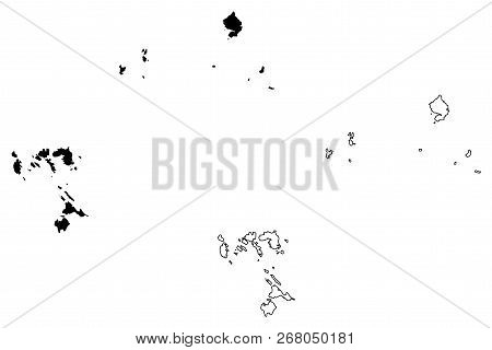 Riau Islands (subdivisions Of Indonesia, Provinces Of Indonesia) Map Vector Illustration, Scribble S