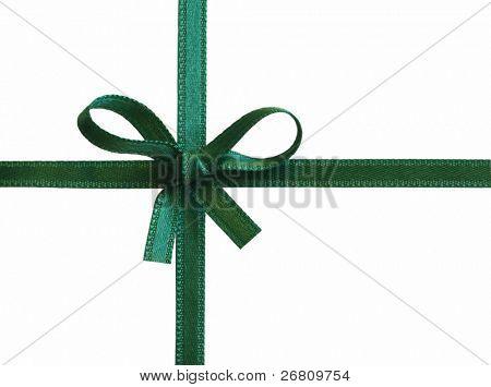 sateen green bow