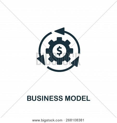 Business Model Icon. Premium Style Design From Startup Icon Collection. Ui And Ux. Pixel Perfect Bus