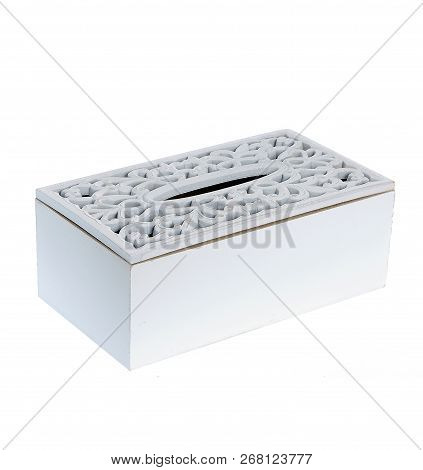 Wooden Design Box Isolated On White Background