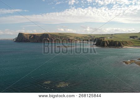 Blue Green Waters And Bays Near Pennan, Scotland