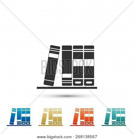 Office Folders With Papers And Documents Icon Isolated On White Background. Archives Folder Sign. Se