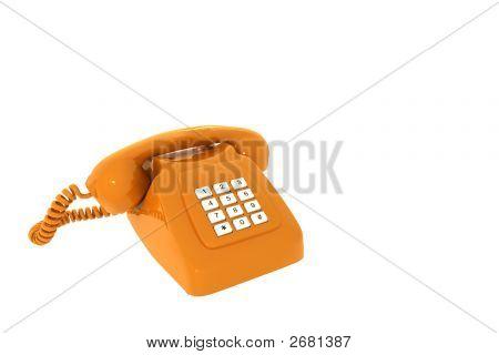 Antique Orange Phone