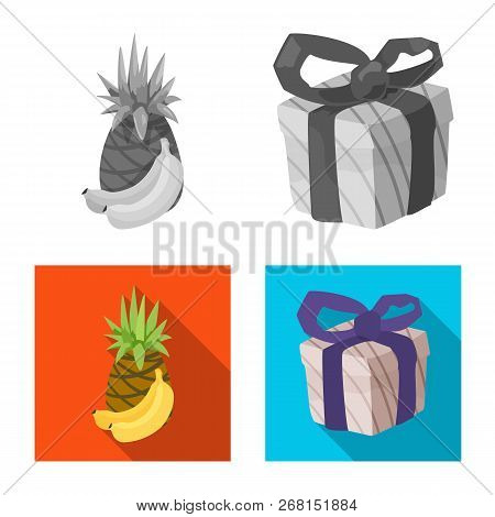 Vector Design Of Food And Drink Logo. Set Of Food And Store Stock Symbol For Web.