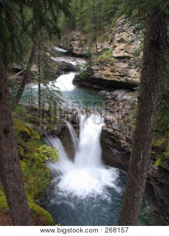 Twin Falls, Johnston Canyon - Banff National Park, Alberta, Canada