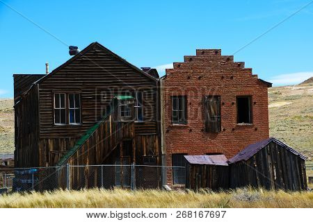 Bodie Ghost Town, Town Hall Abandoned Gold Mining Town, California.