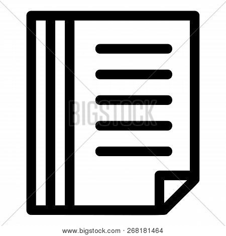 File Folder Icon. Outline File Folder Vector Icon For Web Design Isolated On White Background