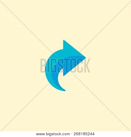 Redo Icon Flat Element.  Illustration Of Redo Icon Flat Isolated On Clean Background For Your Web Mo