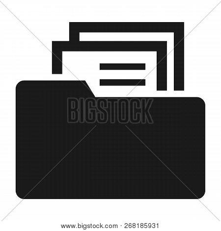 File Folder Icon. Simple Illustration Of File Folder Vector Icon For Web Design Isolated On White Ba