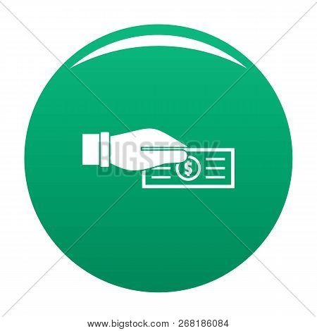 Take Tax Icon. Simple Illustration Of Take Tax Vector Icon For Any Design Green