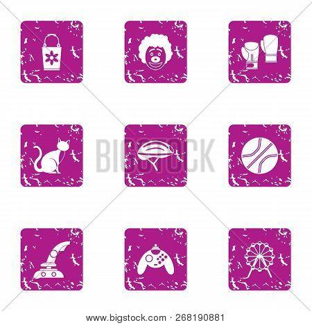 Bureau icons set. Grunge set of 9 bureau vector icons for web isolated on white background poster