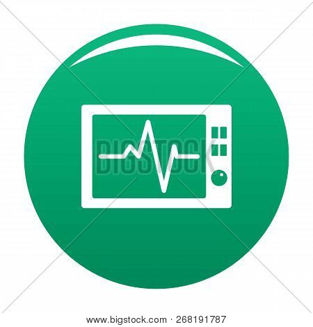 Ekg Icon. Simple Illustration Of Ekg Vector Icon For Any Design Green