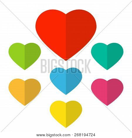 Valentine Heart Simbol. Web Icon. Vector Illustration.