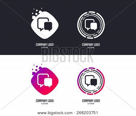 Logotype Concept. Chat Sign Icon. Speech Bubble Symbol. Communication Chat Bubble. Logo Design. Colo
