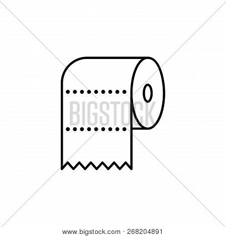Wc, Paper, Toilet, Towel Outline Icon. Signs And Symbols Outline Icon Can Be Used For Web, Logo, Mob
