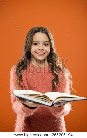 Child Enjoy Reading Book. Book Store Concept. Wonderful Free Childrens Books Available To Read. Read
