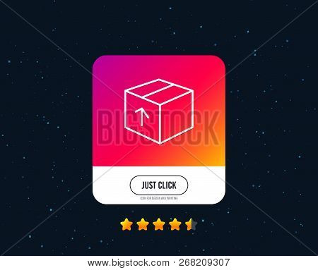 Delivery Box Line Icon. Logistics Shipping Sign. Parcels Tracking Symbol. Web Or Internet Line Icon